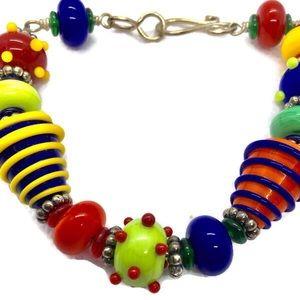 Handmade Chunky Glass Beaded Bracelet